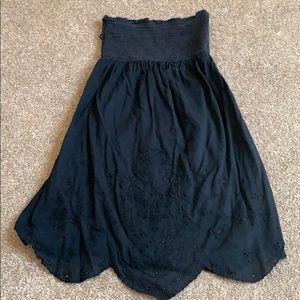 American Eagle strapless black dress